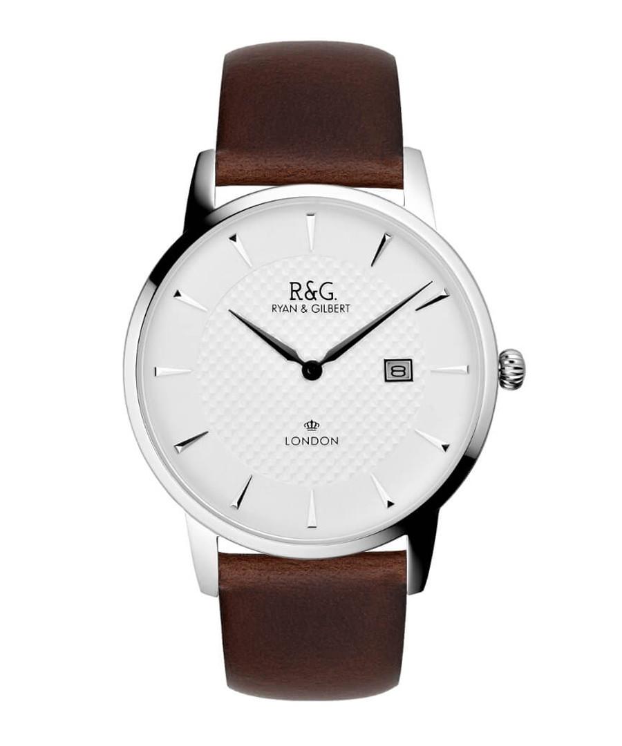 Knightsbridge silver & brown watch Sale - Ryan & Gilbert