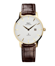 Mayfair brown leather watch