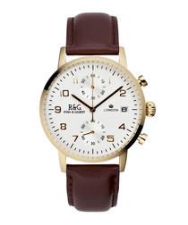 Westminster leather strap watch