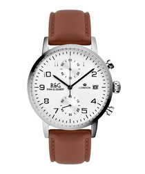 Westminster brown leather watch