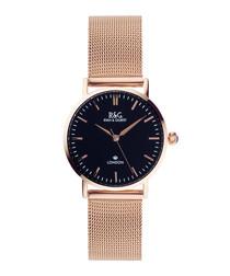Belgravia Petite rose gold-plated watch