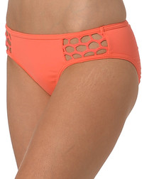 Nectarine cut-out bikini briefs