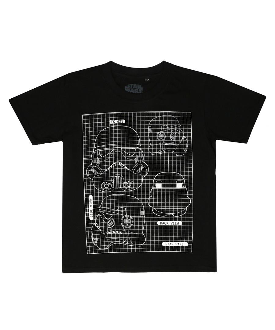 Kids' Black Trooper blueprint T-shirt Sale - star wars
