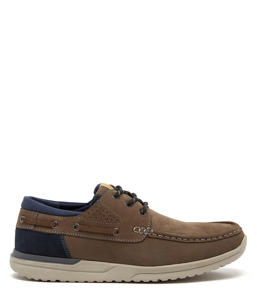 Taupe nubuck suede sneakers  Sale - sterling and hunt