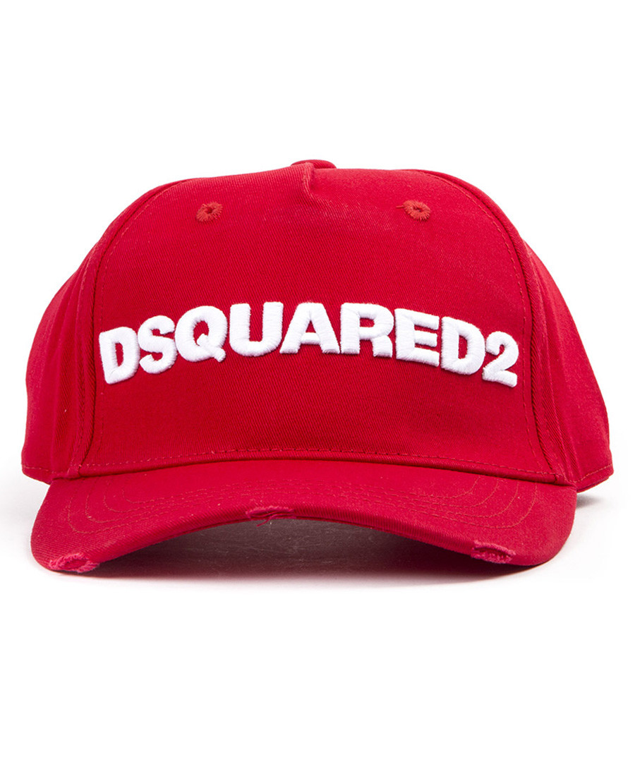 Red pure cotton baseball logo hat Sale - dsquared2