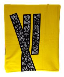 Yellow cotton logo beach towel