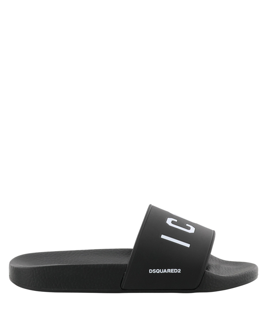 Black & white logo slip-ons Sale - dsquared2