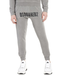 Grey pure cotton tracksuit trousers
