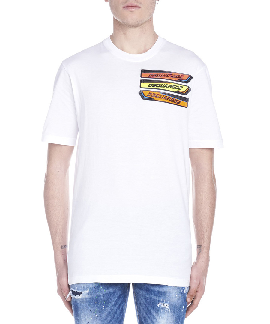 White pure cotton print T-shirt Sale - dsquared2
