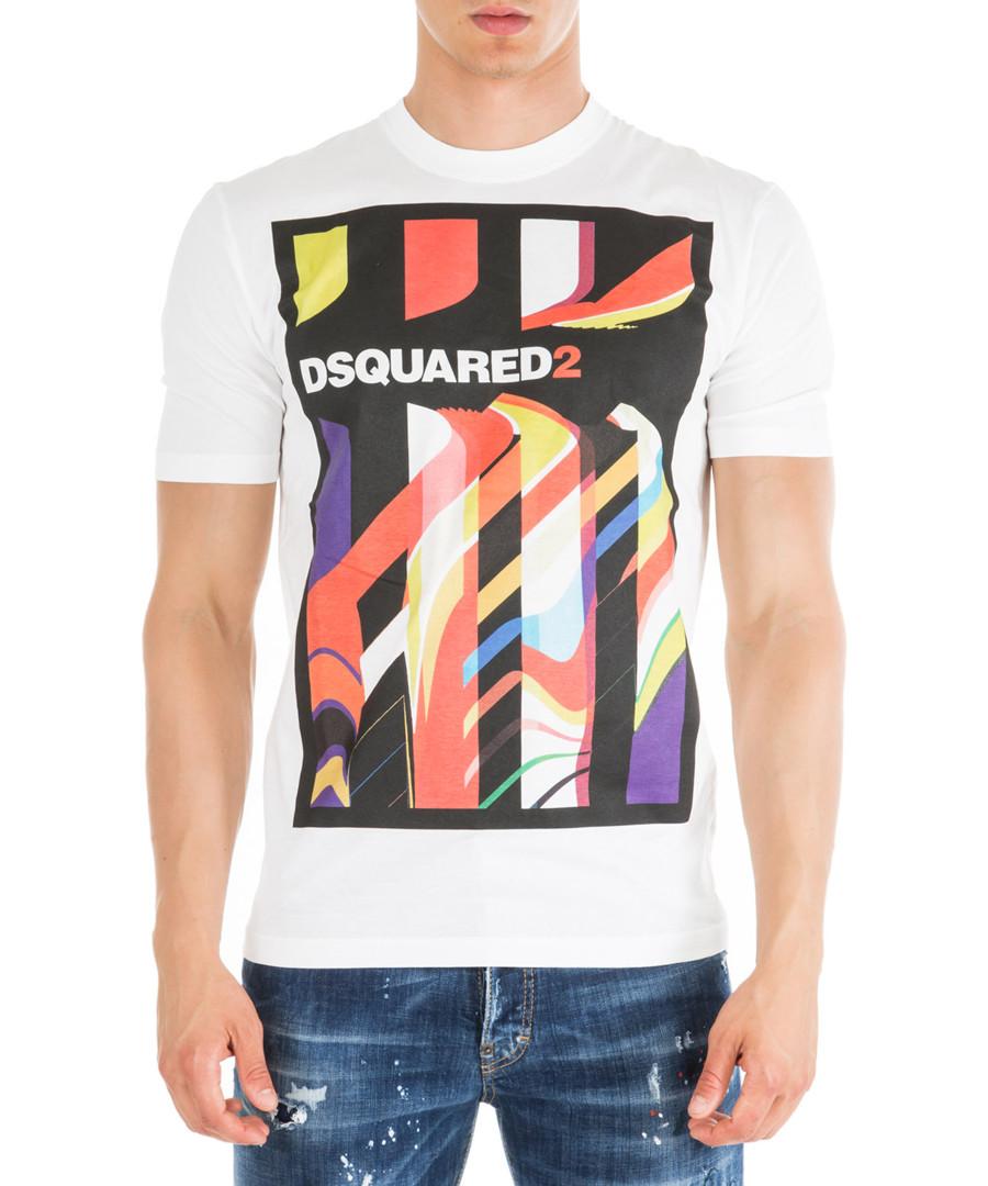 White pure cotton print logo T-shirt Sale - dsquared2