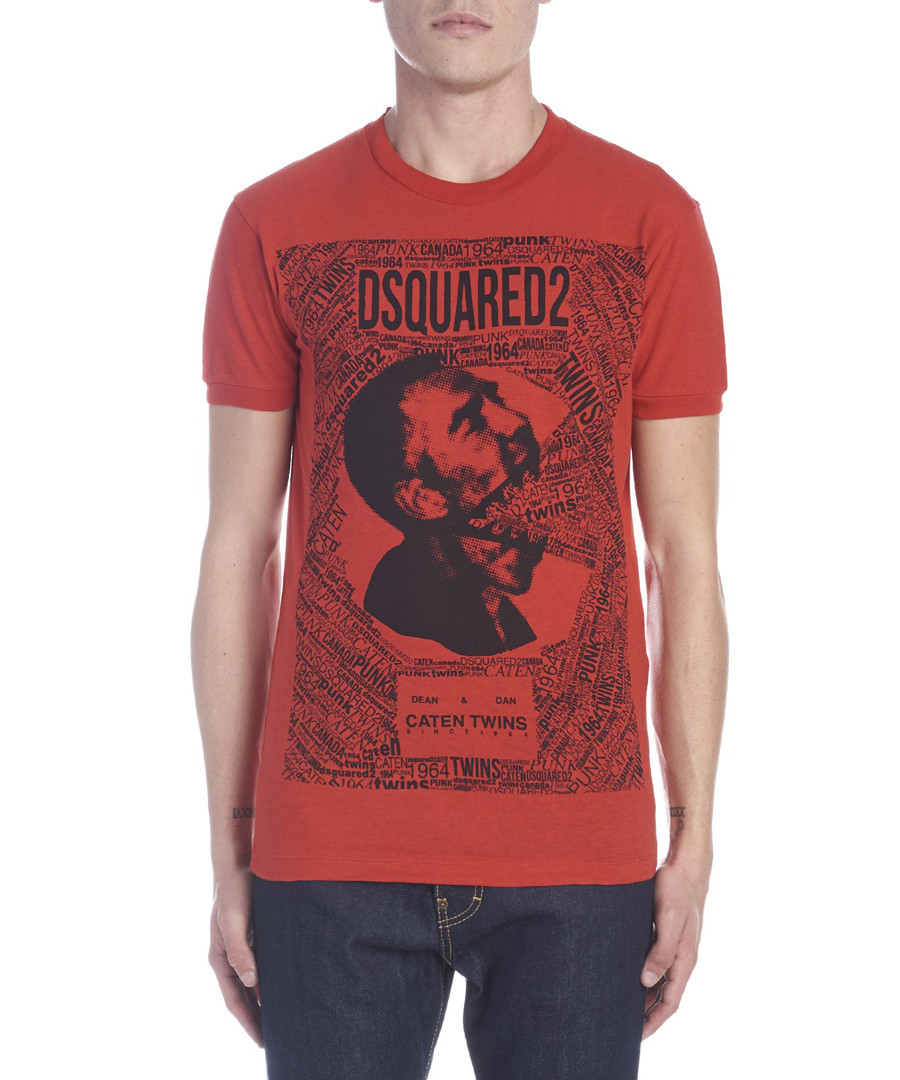 Red pure cotton graphic T-shirt Sale - dsquared2