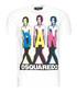 White pure cotton graphic T-shirt Sale - dsquared2 Sale