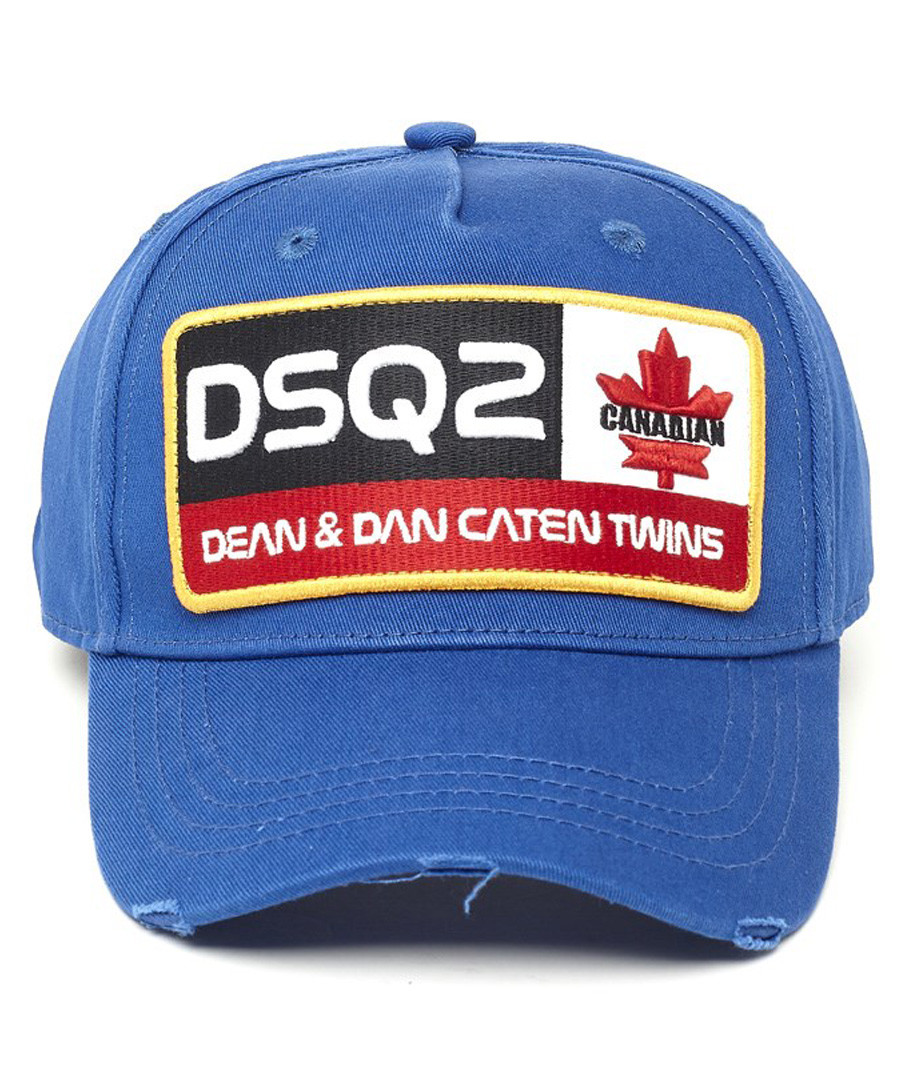 Blue pure cotton embroidered hat Sale - dsquared2
