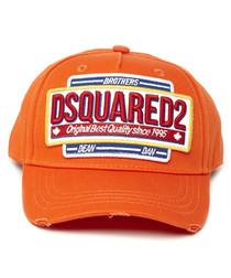 Orange pure cotton print hat