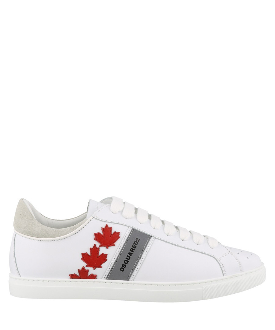 White leather Canadian print sneakers Sale - dsquared2