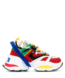 Multi-colour leather sneakers