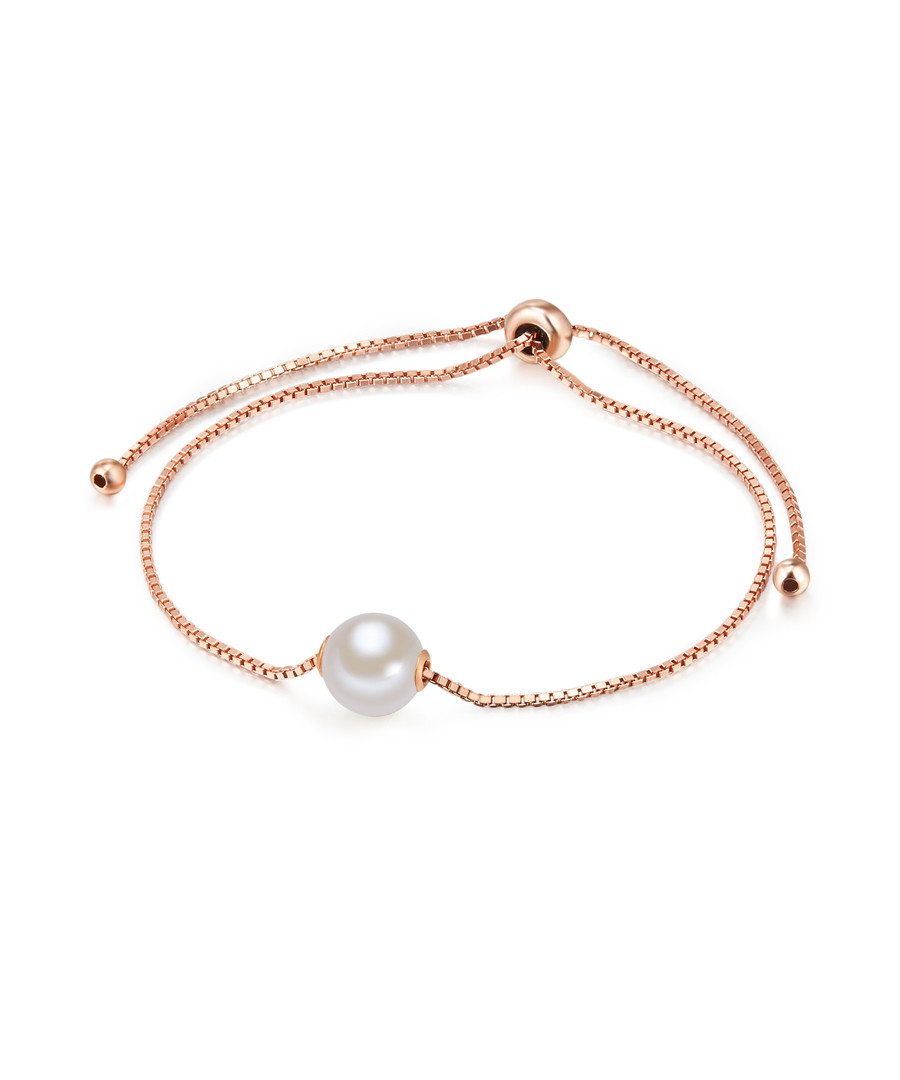 Rose gold-plated pearl bracelet Sale - yamato pearls