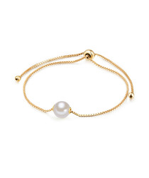 Yellow gold-plated pearl bracelet