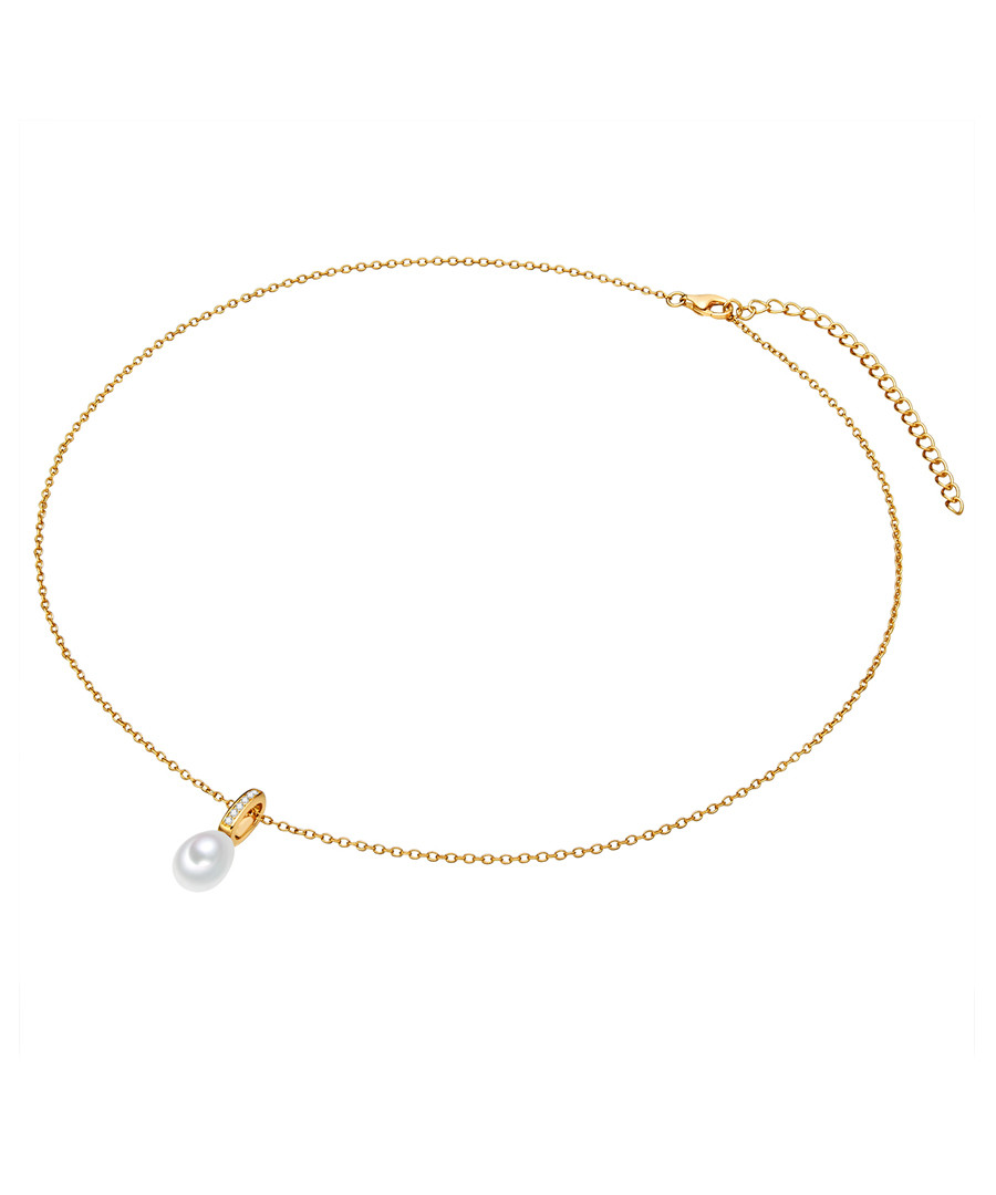 Yellow gold-plated pearl necklace Sale - yamato pearls