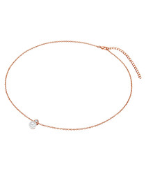 Rose gold-plated pearl necklace