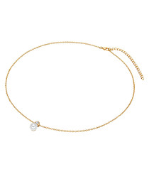 Yellow gold-plated pearl necklace