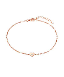 Rose gold-plated heart bracelet