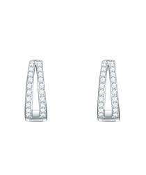Rhodium-plated earrings