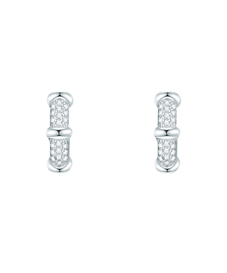Rhodium-plated hoop earrings Sale - lindenhoff