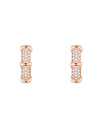Rose gold-plated hoop earrings