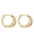 Yellow gold-plated cross earrings Sale - lindenhoff Sale