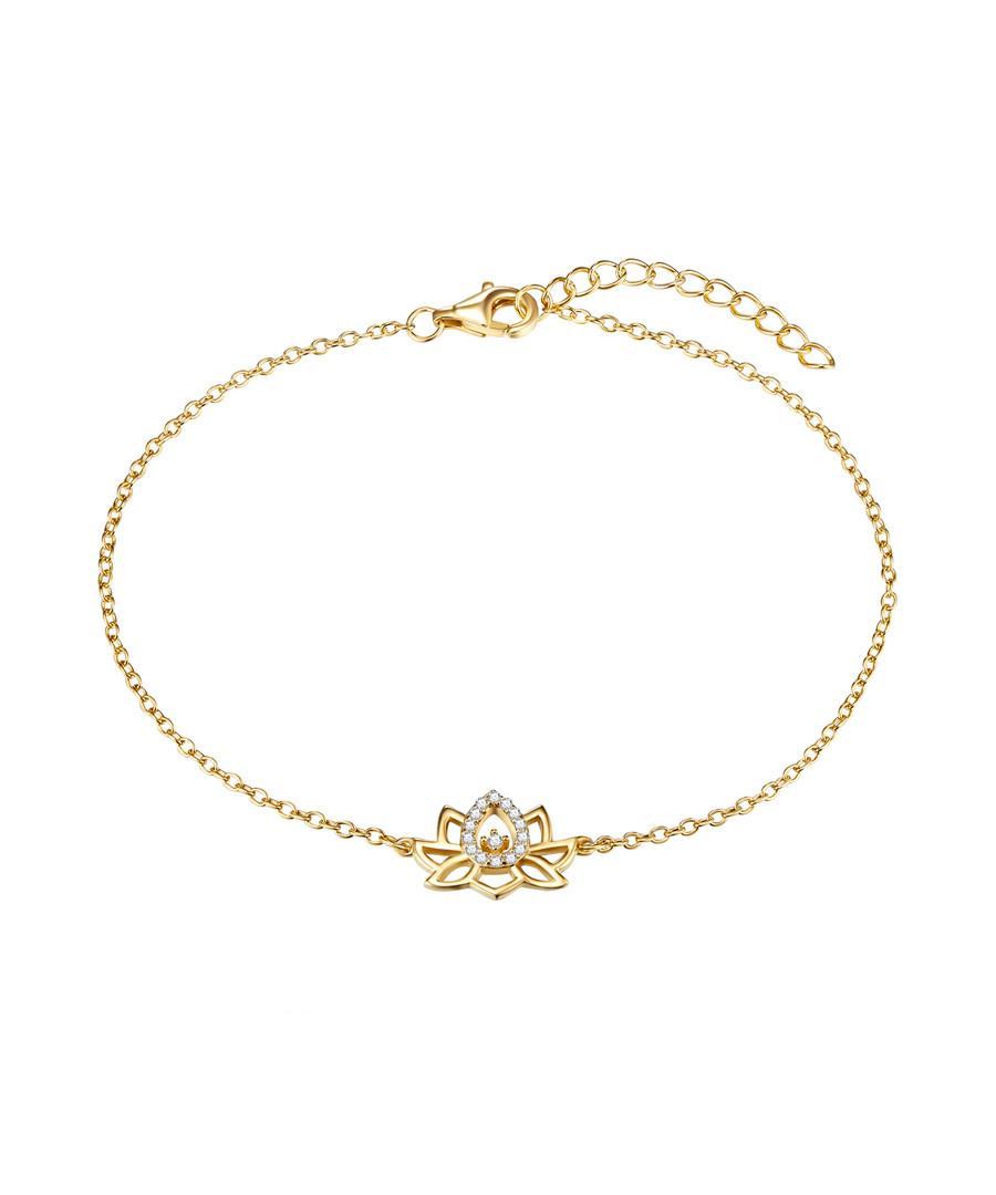 Yellow gold-plated lotus bracelet Sale - lindenhoff