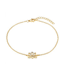 Yellow gold-plated lotus bracelet
