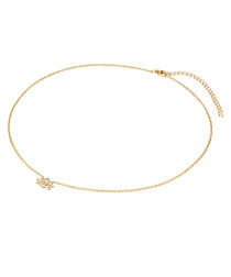 Yellow gold-plated lotus necklace
