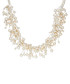 Rhodium-plated pearl silk necklace Sale - yamato pearls Sale