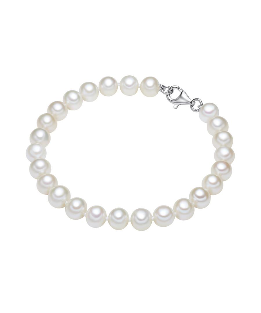 Rhodium-plated pearl silk bracelet Sale - yamato pearls