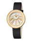 Black leather mother-of-pearl watch Sale - gevril Sale