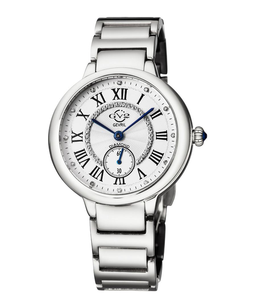 Silver-tone steel watch Sale - gv2