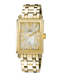 Gold-tone steel watch