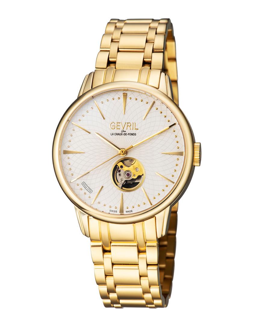 Gold-tone & silver-tone steel watch Sale - gevril