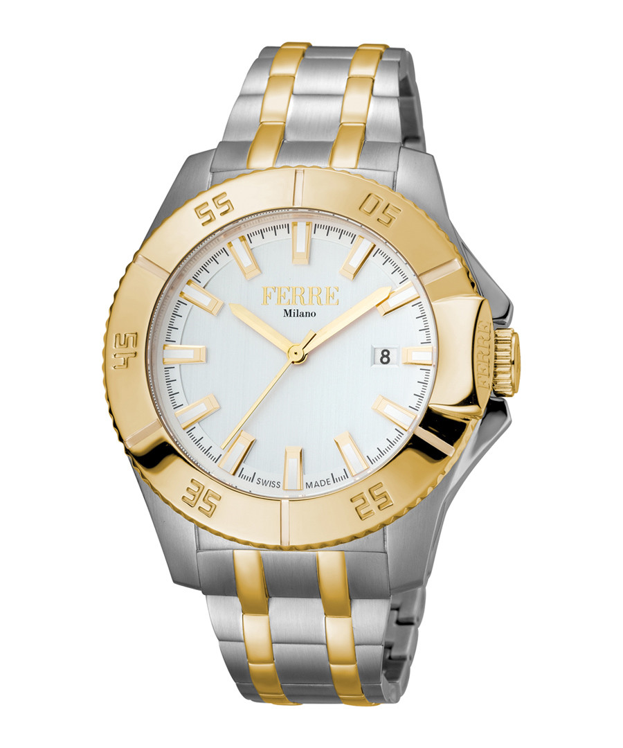 Two-tone & silver-tone crystal watch Sale - ferre milano