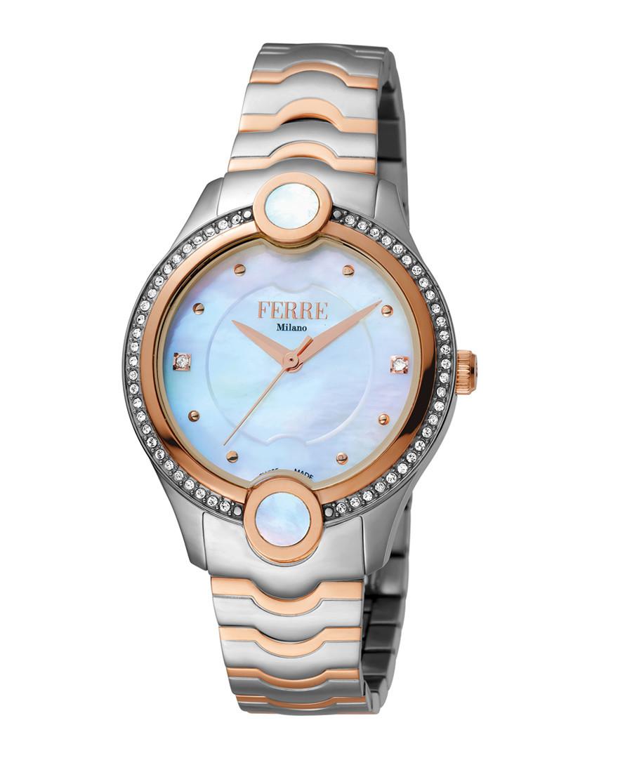 Two-tone & blue steel watch Sale - ferre milano