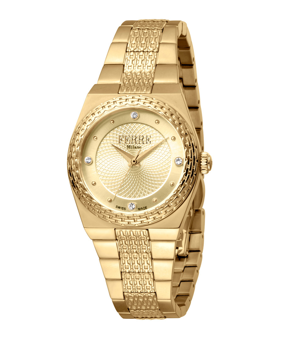 Gold-tone steel watch Sale - ferre milano