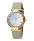 Gold-tone & grey leather watch Sale - ferre milano Sale