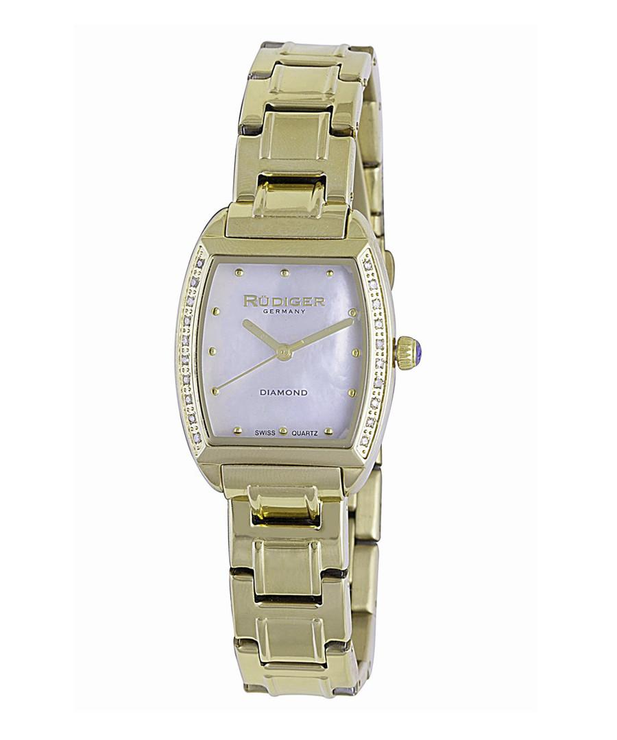 Gold-tone & purple steel watch Sale - rudiger
