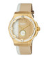 Gold-tone cream & white leather watch Sale - rebel Sale