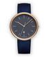 Blue & gold-tone suede watch Sale - Uniform Wares Sale
