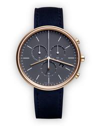 Blue suede watch