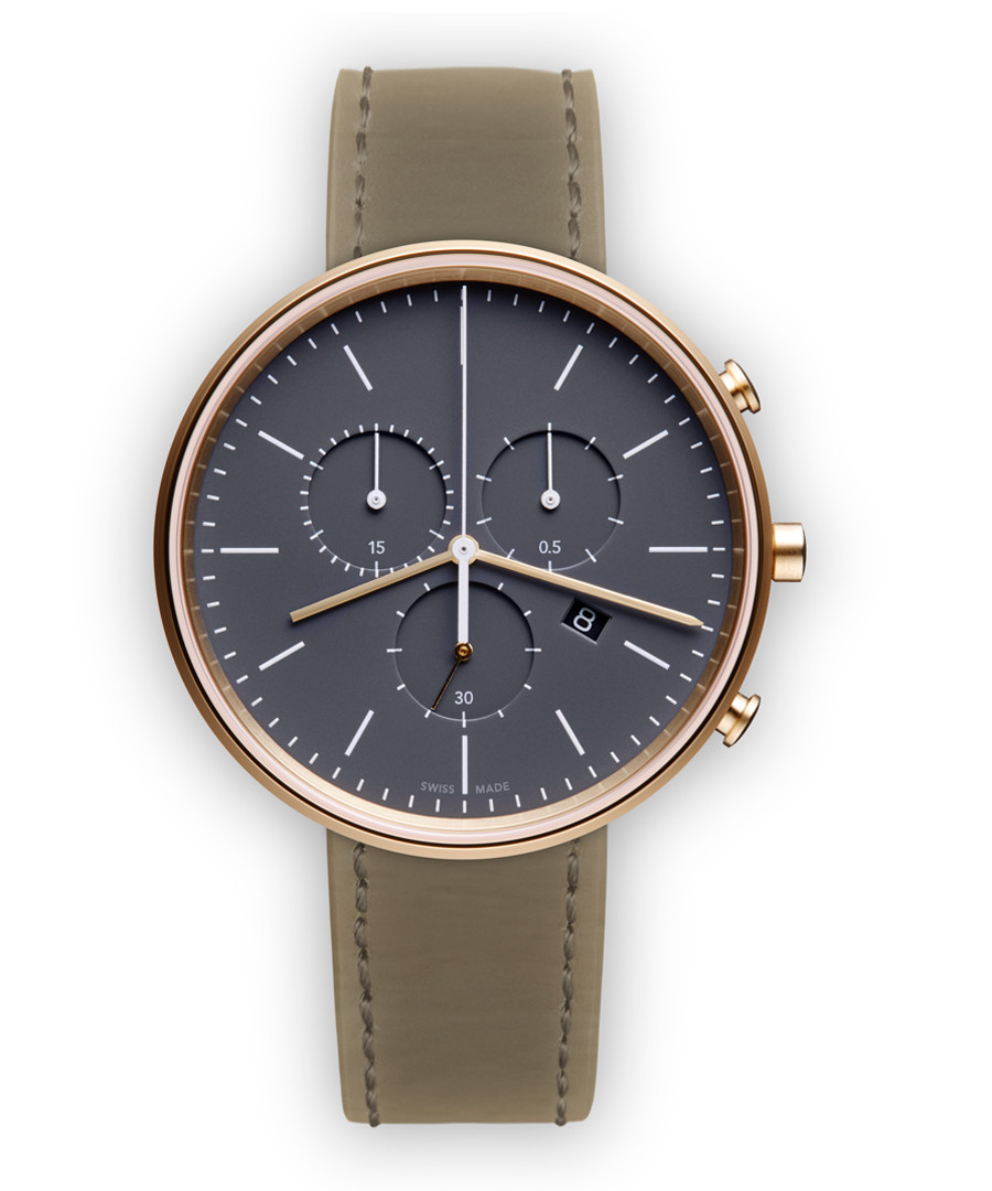 Rose gold-tone mist nappa leather watch Sale - Uniform Wares