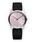 Silver-tone & black suede watch Sale - Uniform Wares Sale