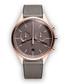 Rose gold-tone & grey leather watch Sale - Uniform Wares Sale